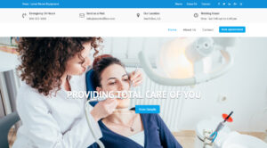 web design portfolio - dental office
